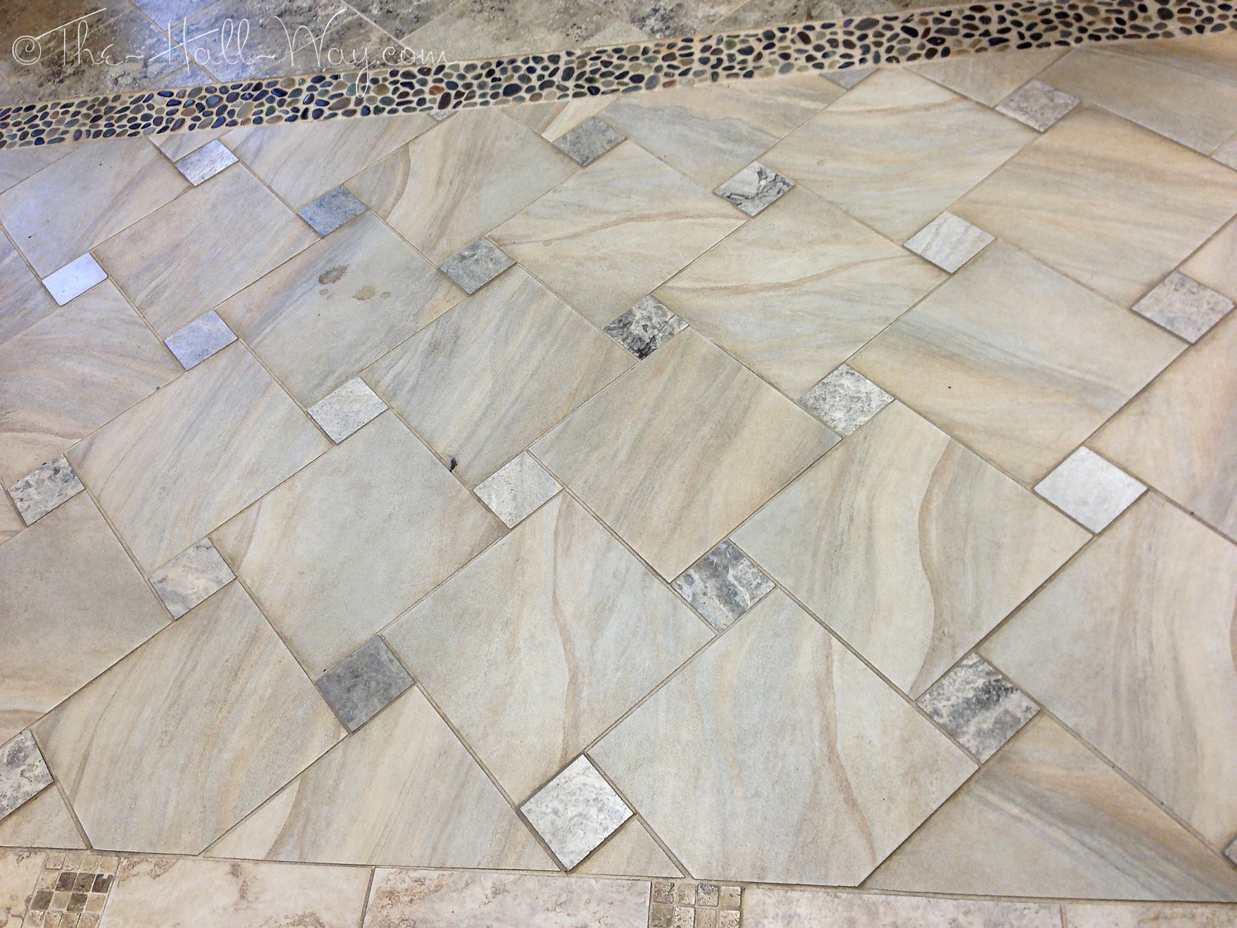 Brick and stone the hall way square offset tile pattern dailygadgetfo Image collections