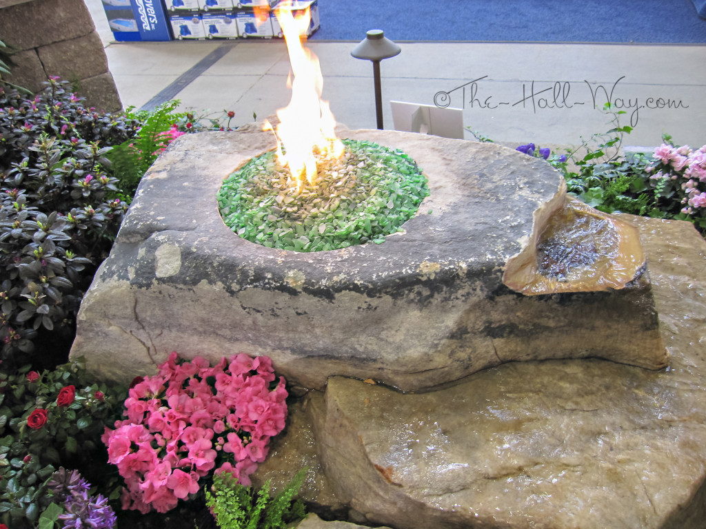 Rock Fire Pit with Water