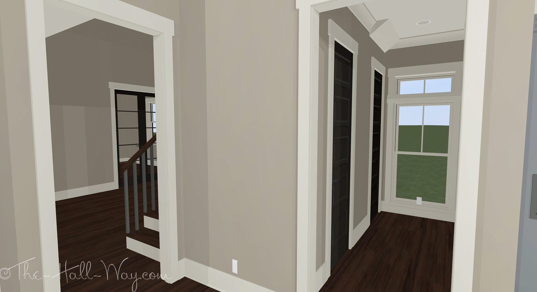 1018 #291E18 Door Color The Hall Way image Colored Entry Doors 47131870