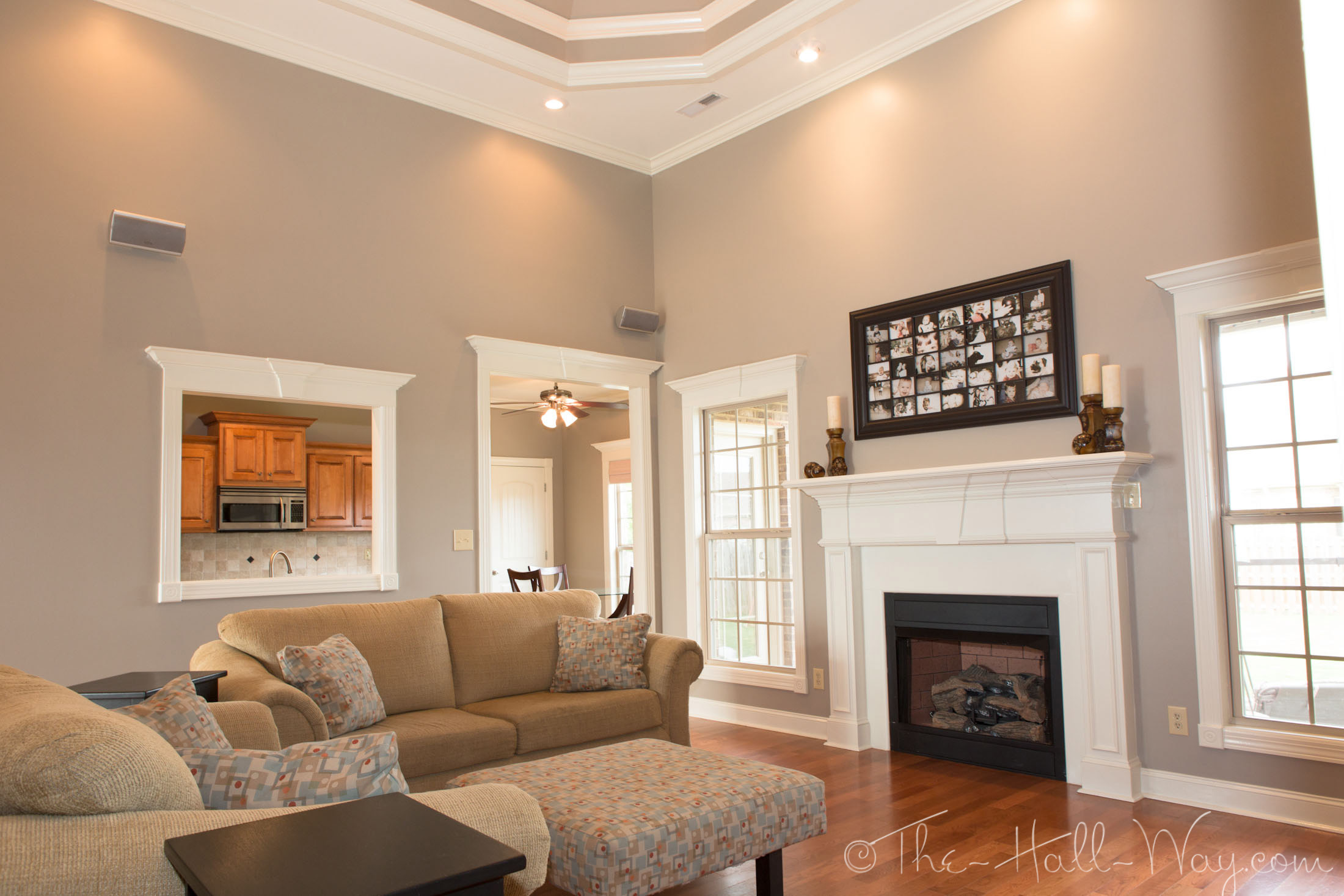 Summer tour of homes the hall way Taupe room ideas
