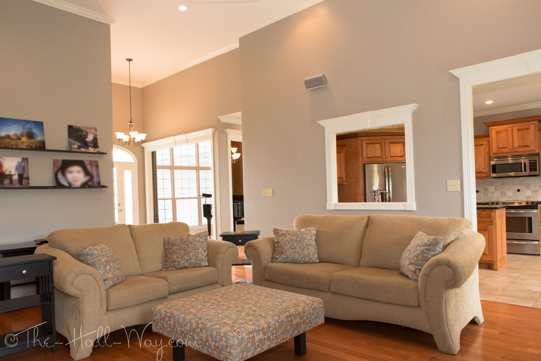 Taupe And Clay Living Room