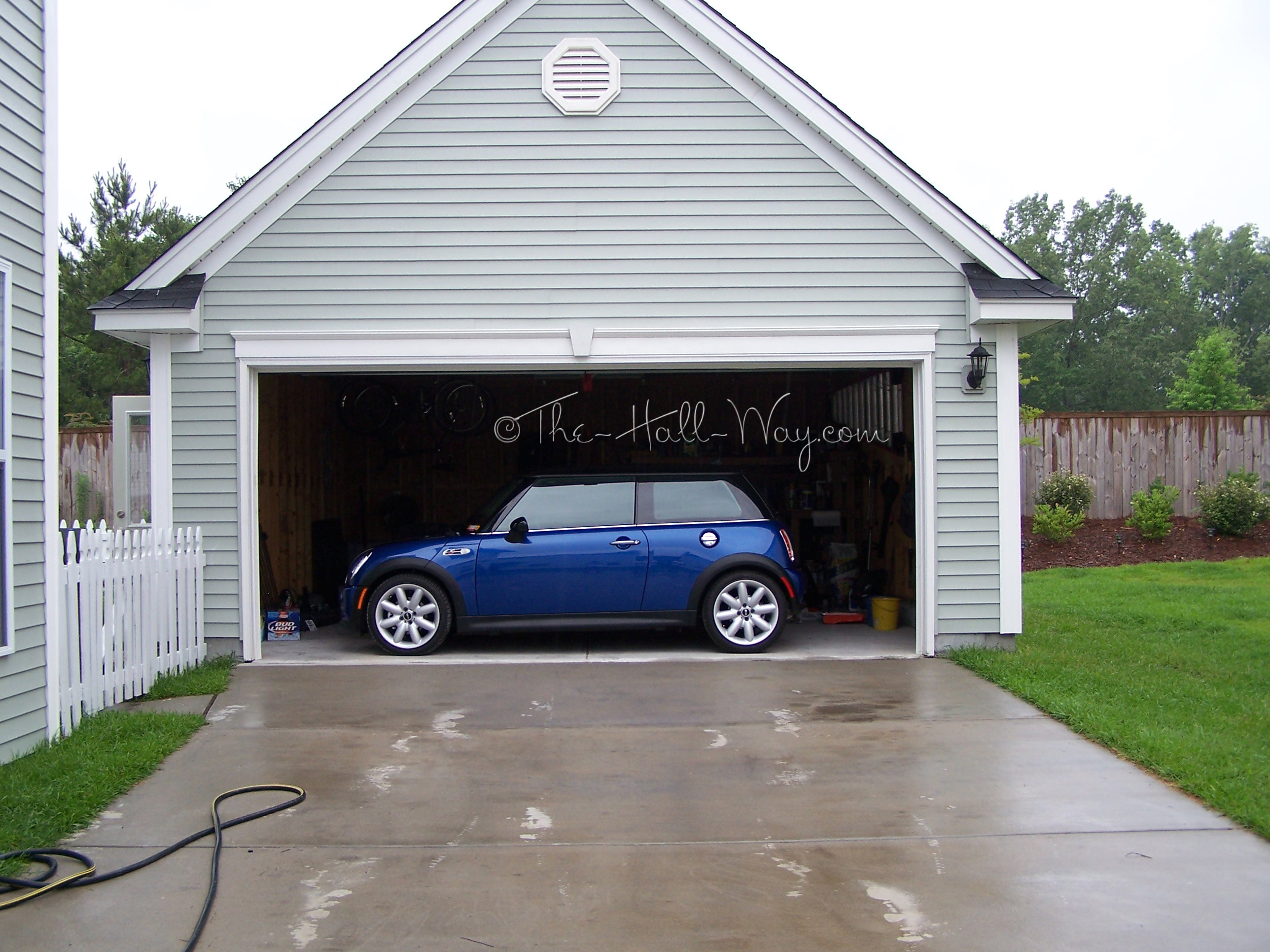 First home tour the hall way for Garage mini cooper