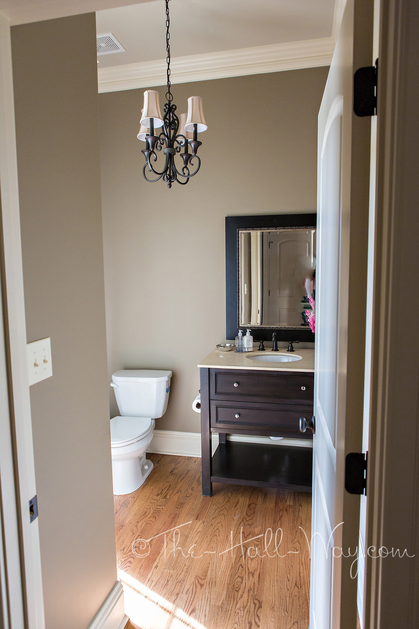 Powder Room Reveal The Hall Way