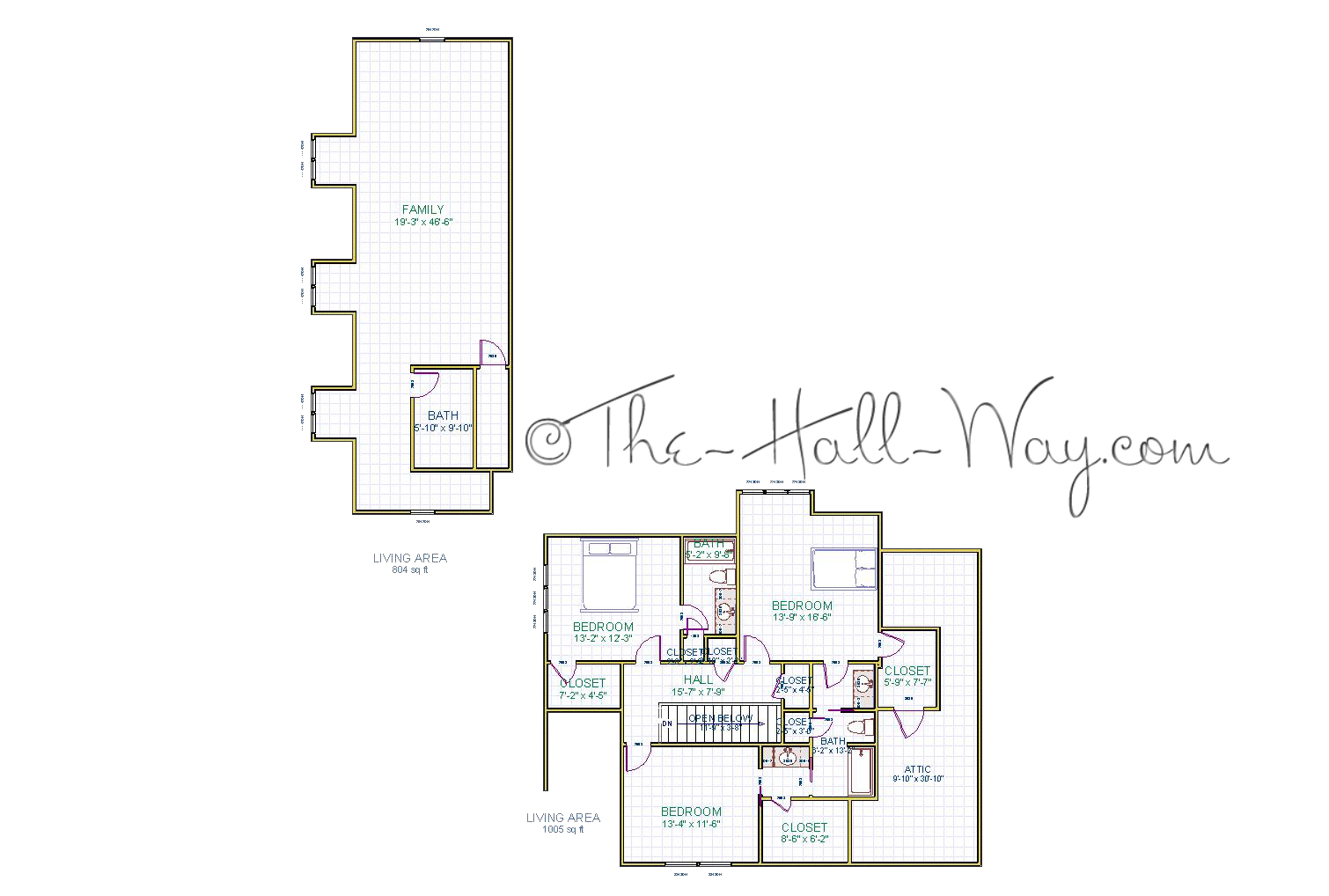 Modified Shook Hill 2nd Floor Rough Draft The Hall Way