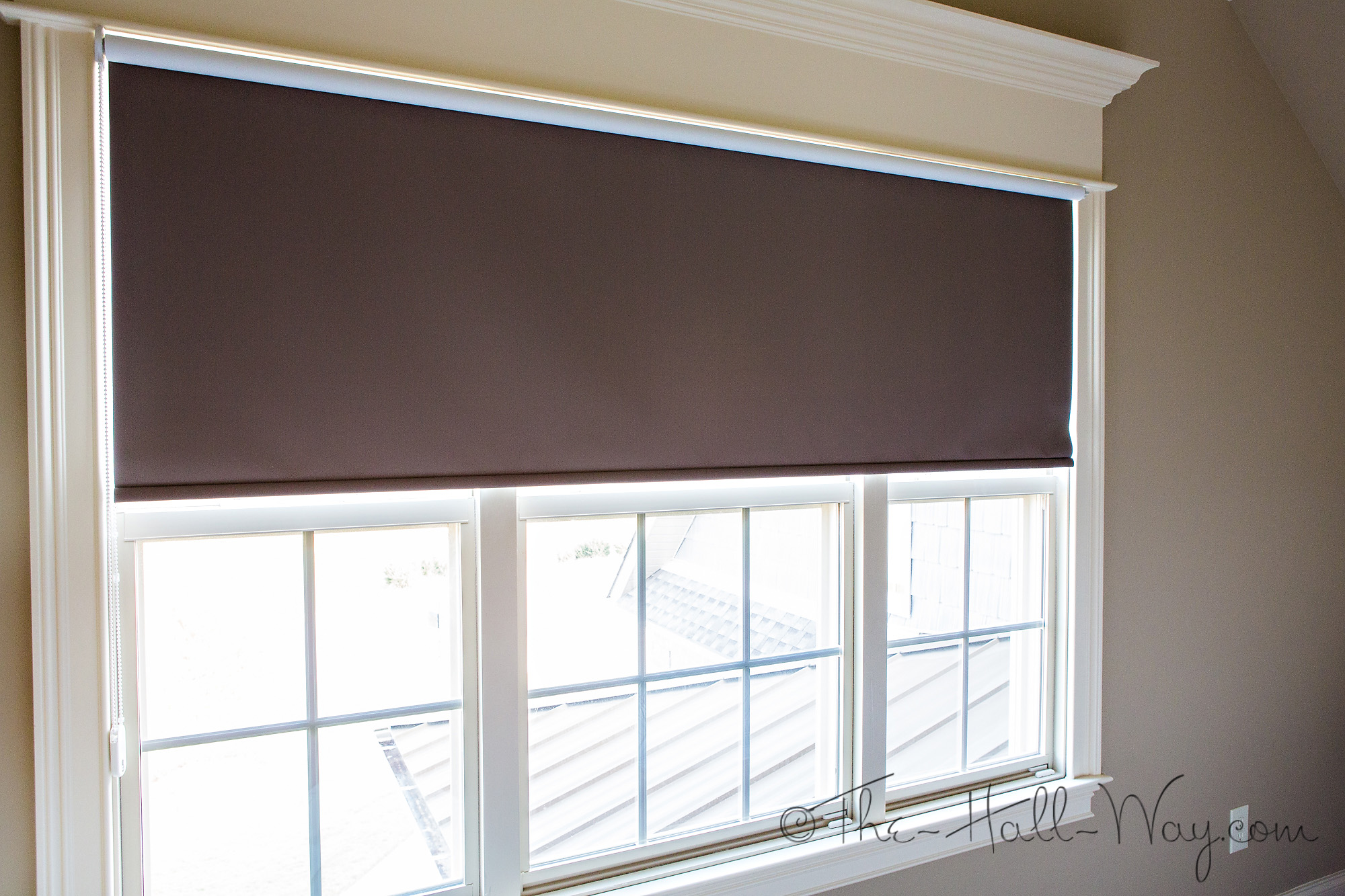Pull Down Shades Upside Down Roller Blinds Cordless Woven
