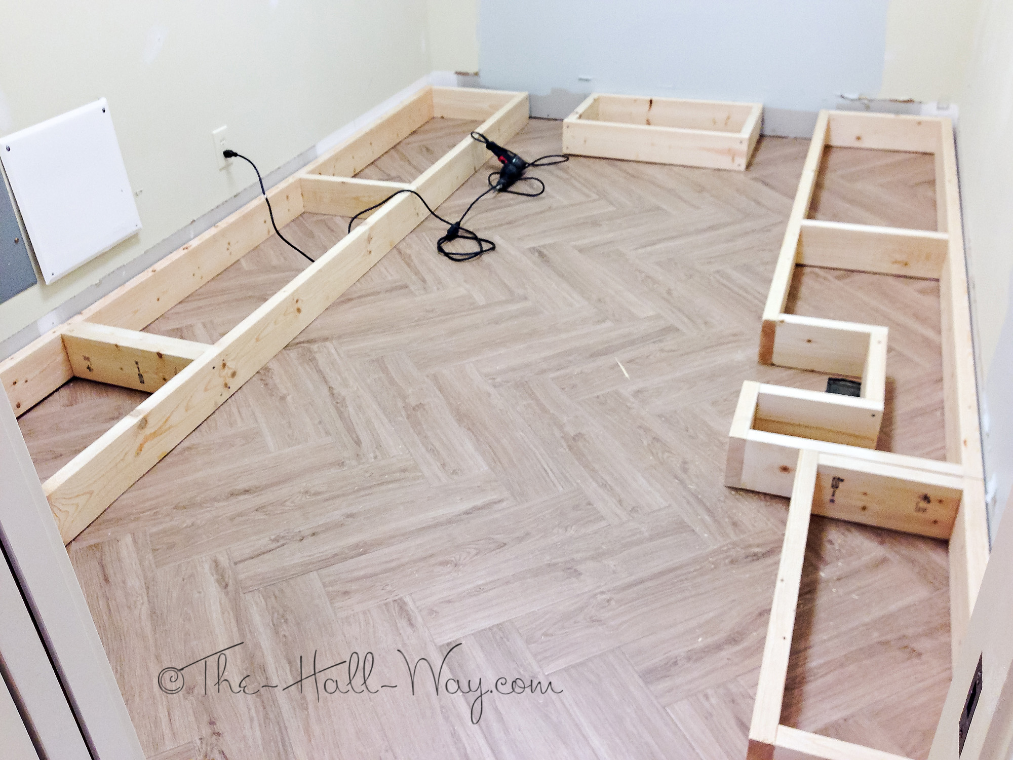 Kitchen Cabinets Over Baseboard Heater
