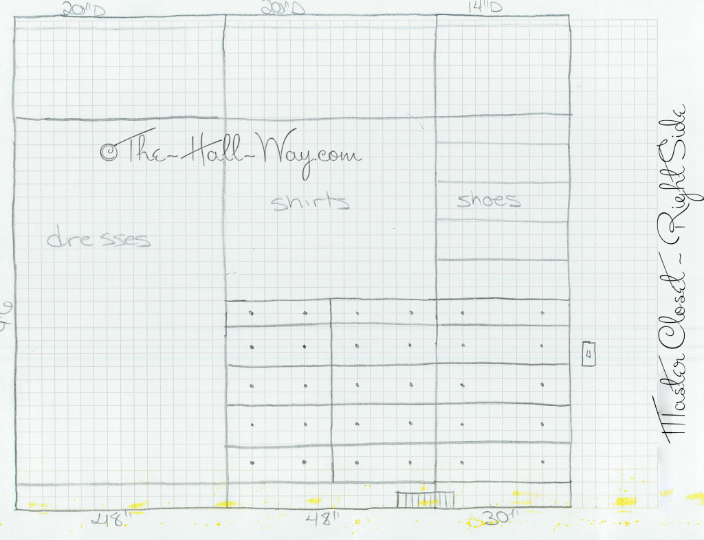 Master Closet Plans - Right Wall