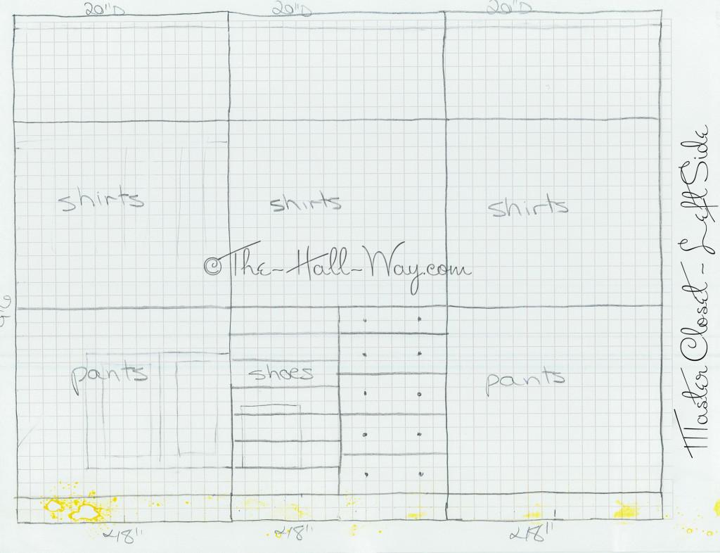 Master Closet Plans - Left Wall