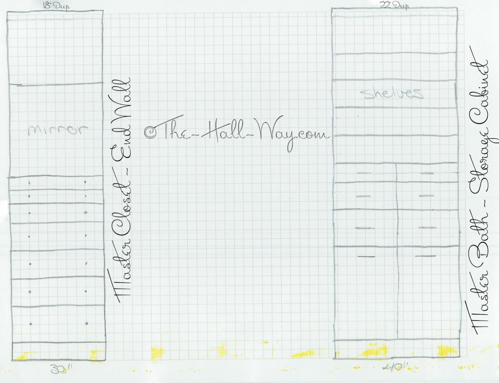 Master Closet and Bath Plans