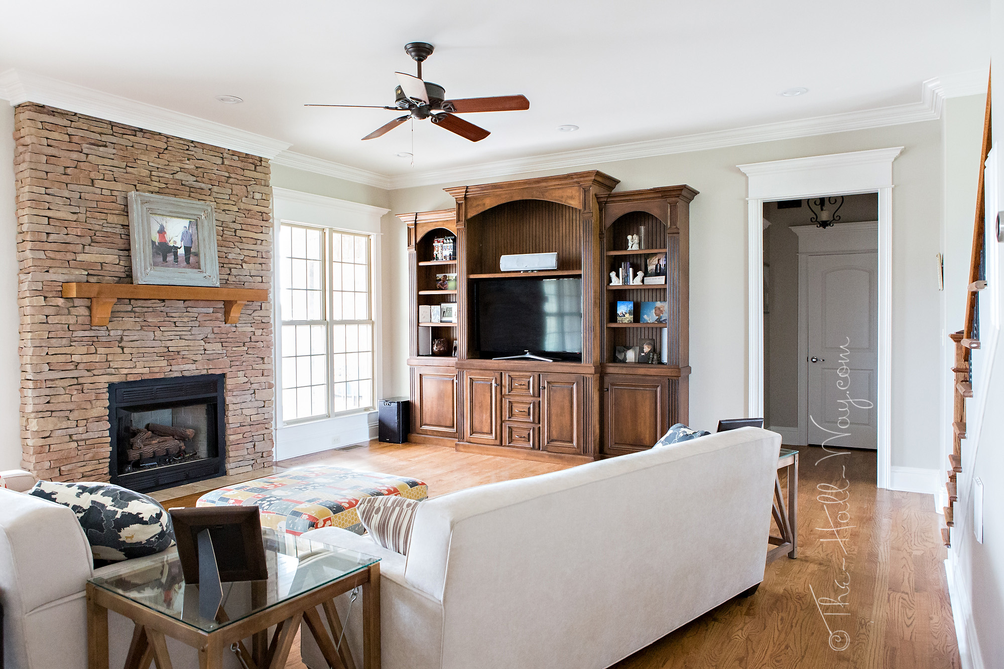 Popular Behr Paint Colors For Living Rooms A Bm Revere Pewter Alternative The Hall Way