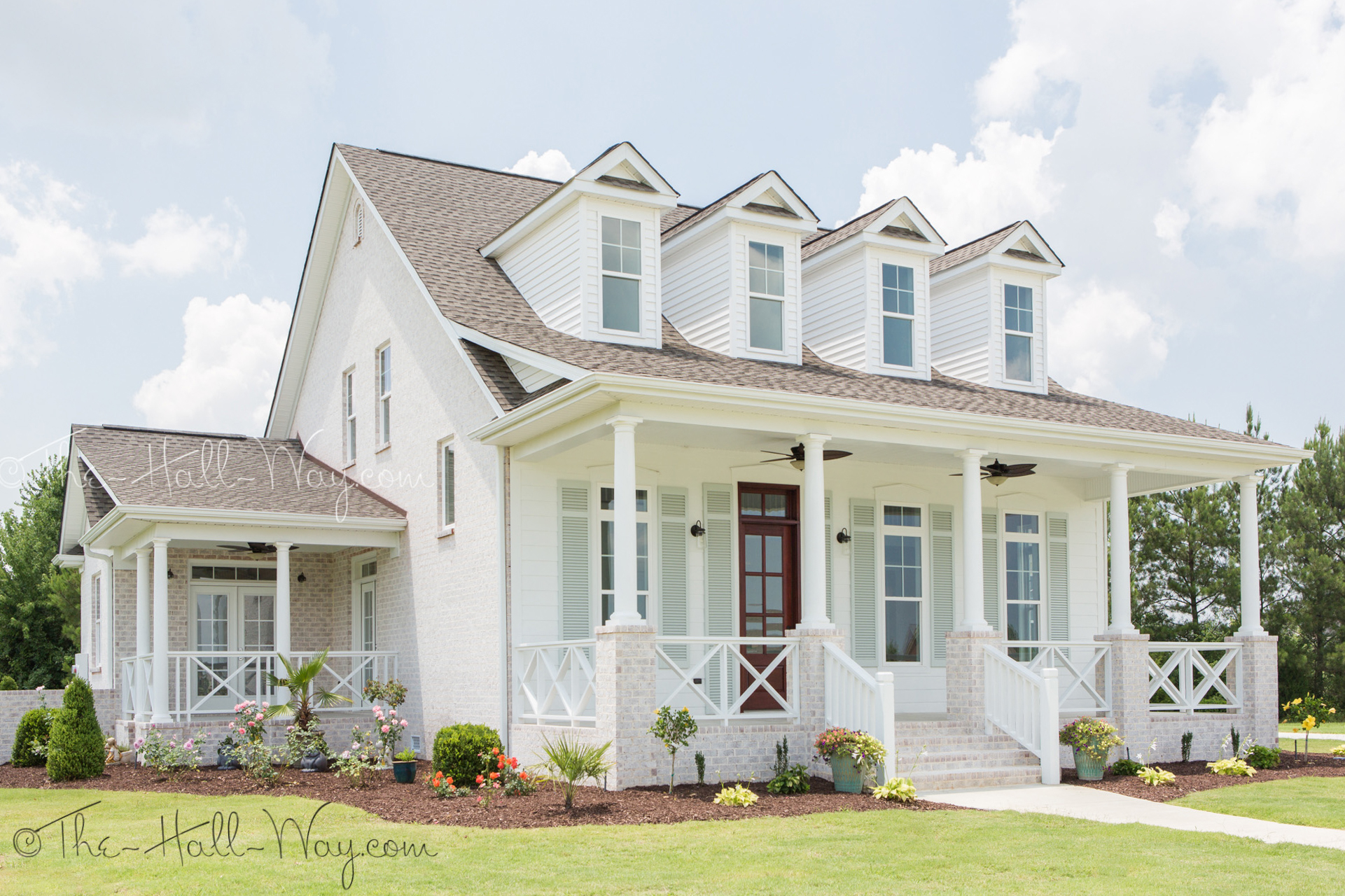 Eastover cottage the exterior the hall way for White design homes