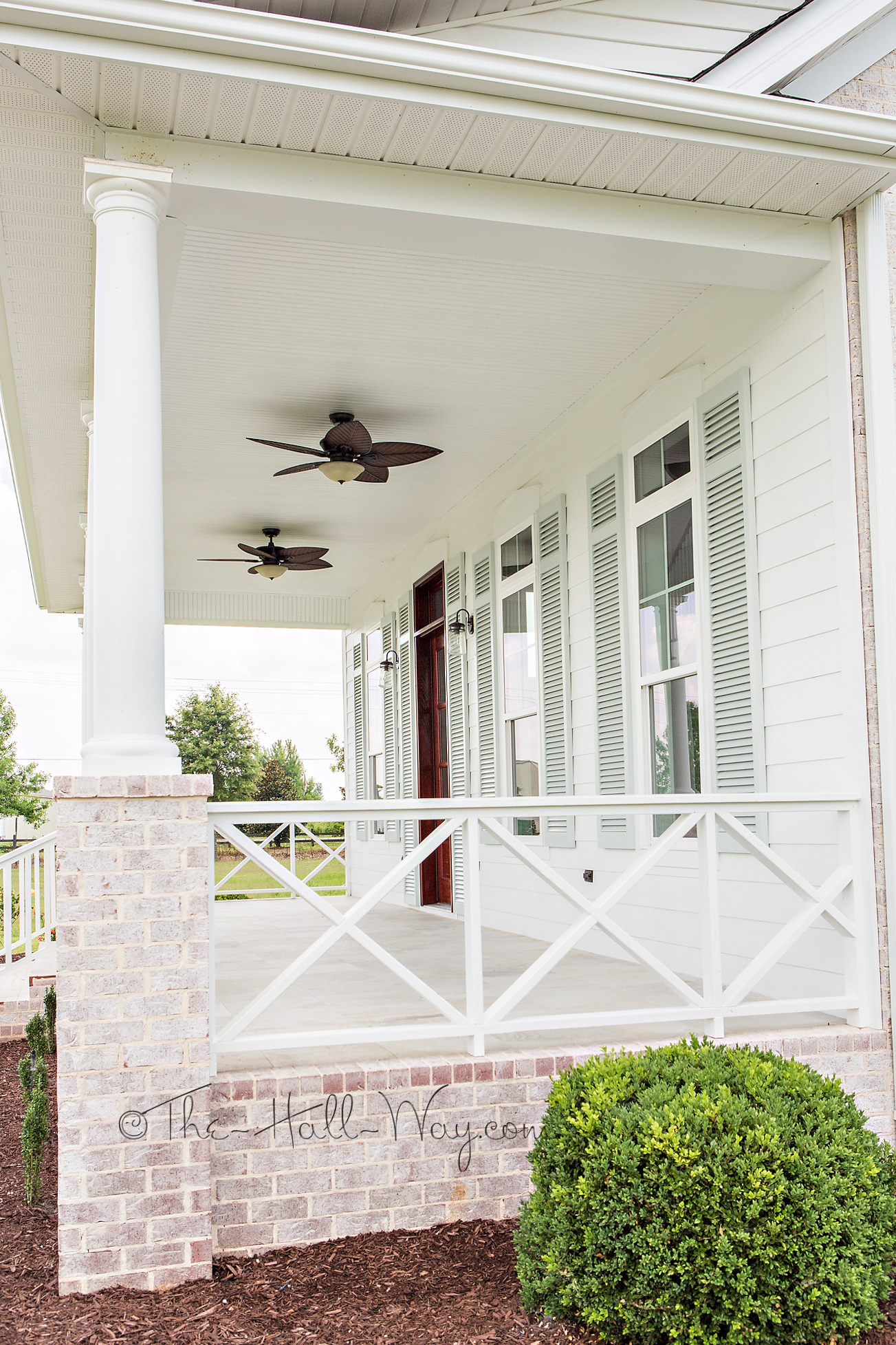 Eastover cottage the exterior the hall way for Side porch