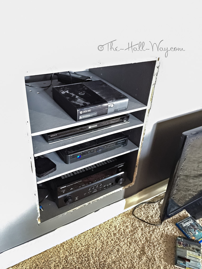 DIY Theater Electronics Cabinet