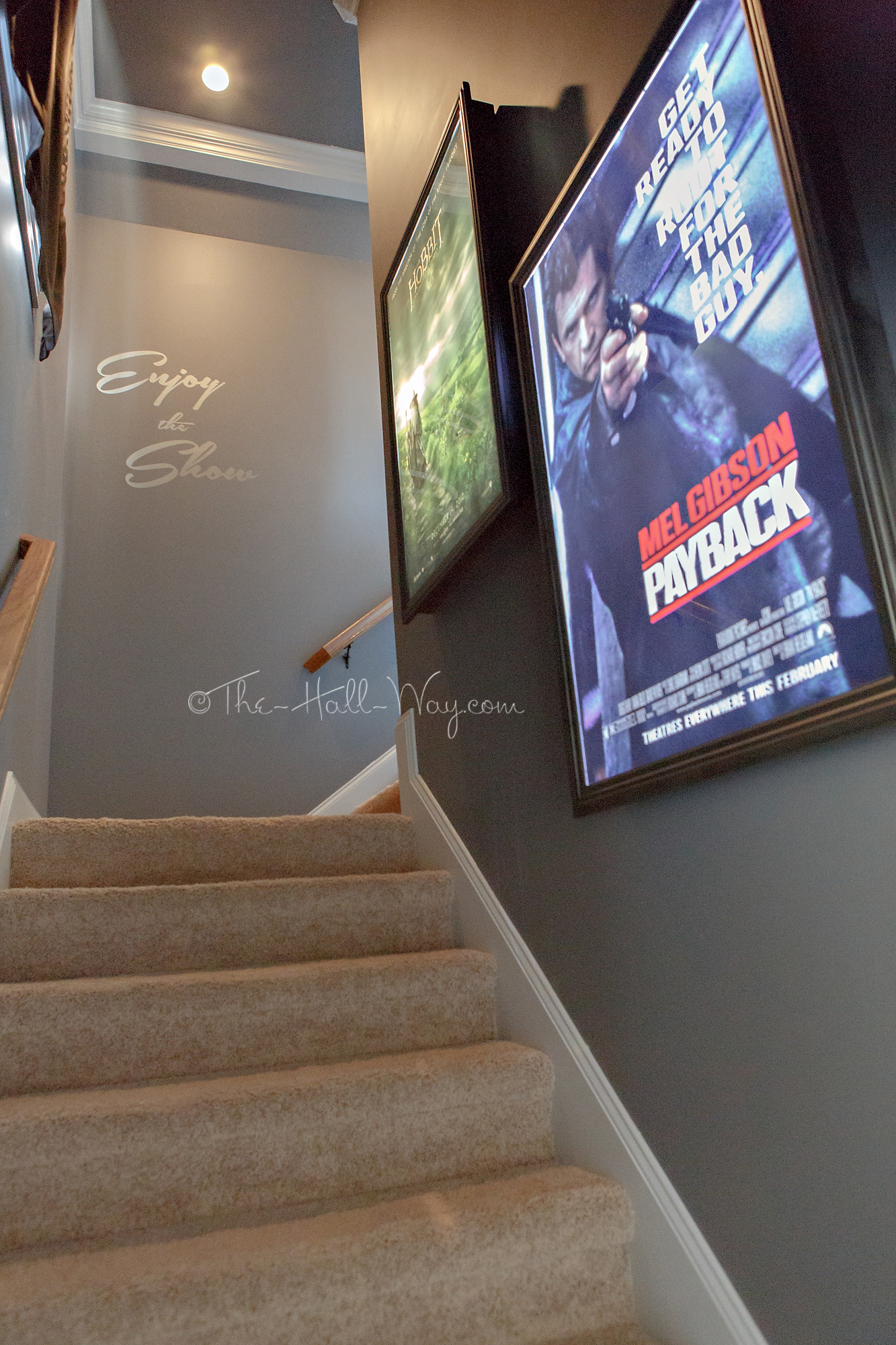 Home Theater Final Reveal The Hall Way