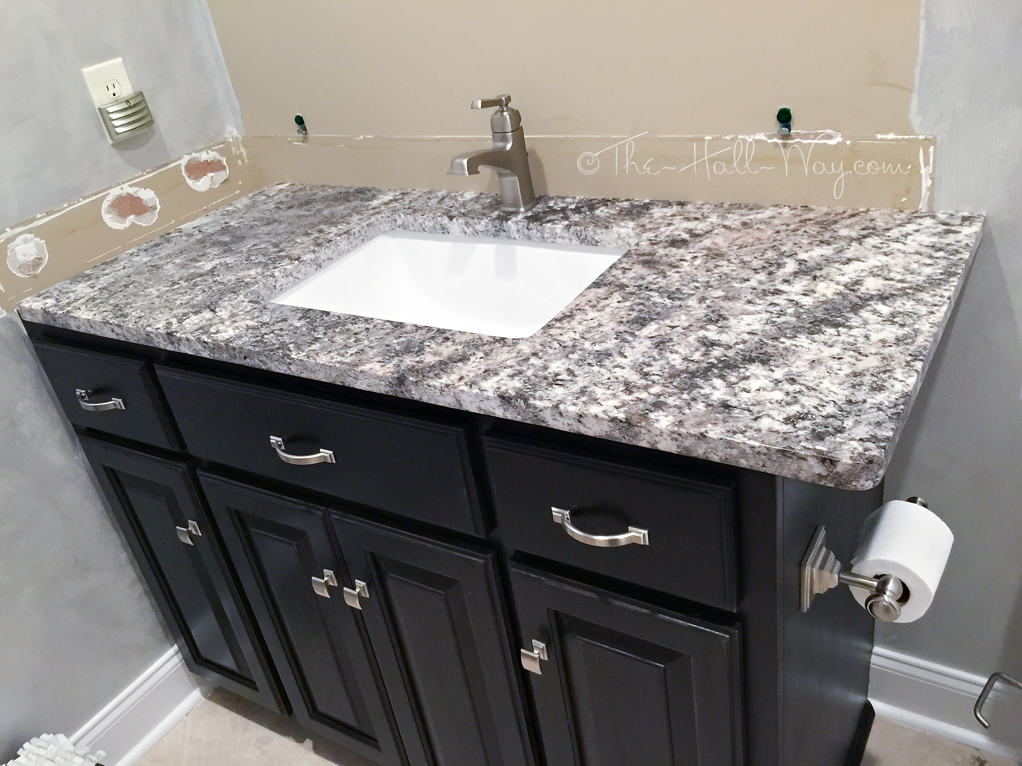 Wonderful Granite White Orion Kitchen With Pergamino And White Torroncino Eclectic  Kitchen Source · Home Theater Bath Part 2 The Hall Way