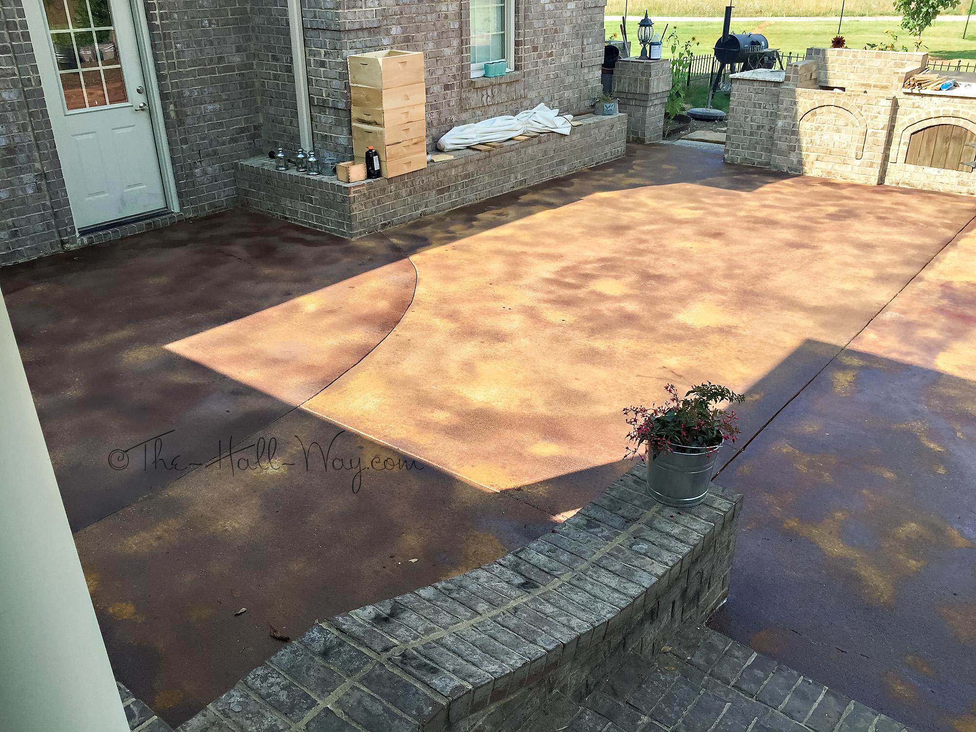 Acid concrete stain home depot excellent concrete stain for Clean acid stained concrete