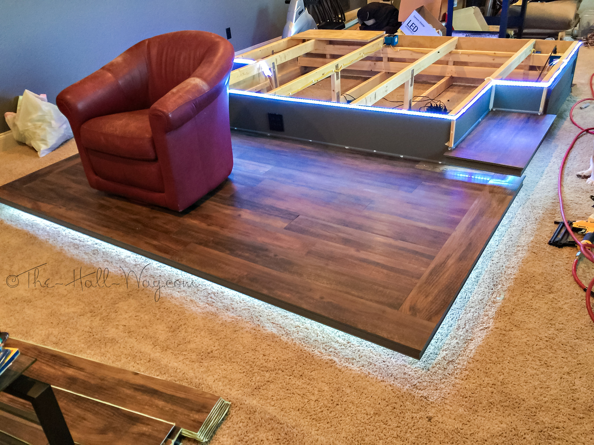 Diy Home Theater Platform Flooring